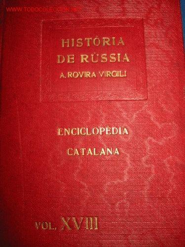 ROVIRA VIRGILI. HISTORIA DE RUSSIA. 1.919 (Libros Antiguos, Raros y Curiosos - Historia - Otros)
