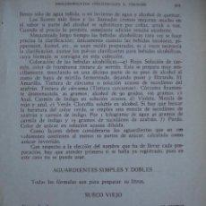 Libros antiguos: LICORES,AGUARDIENTES,FABRICACION,FORMULAS. Lote 22131877