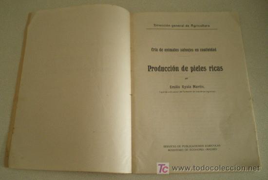 Libros antiguos: Producción de pieles ricas. Cría de animales salvajes en cautividad. - Foto 2 - 10944704