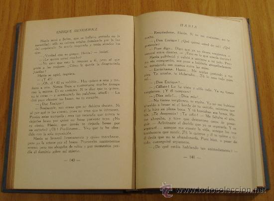 Libros antiguos: HANIA. ENRIQUE SIENKIEWICZ. TRADUCCIÓN A. MARCOFF ( L01 ) - Foto 3 - 23885491