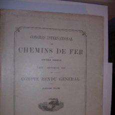 Libros antiguos: TRENES-CONGRESO INTERNACIONAL . Lote 16593186