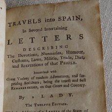 Libros antiguos: TRAVELS INTO SPAIN 1771 ( 1691) ** COSTUMBRES Y CURIOSIDADES DE ESPAÑA ** EN INGLES ** 273 PAGINAS. Lote 27429083