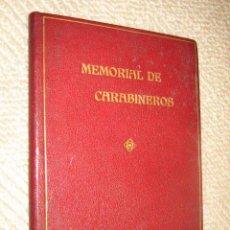 Libros antiguos: MEMORIAL DE CARABINEROS. SEPTIEMBRE 1924. ENCUADERNACIÓN LUJOSA EN PLENA PIEL, CANTOS DORADOS. Lote 22720305
