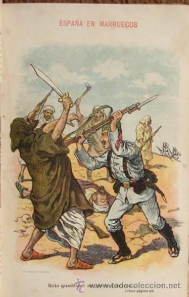 Libros antiguos: ESPAÑA EN MARRUECOS: CRÓNICA DE LA CAMPAÑA DE 1909, POR AUGUSTO RIERA. - Foto 4 - 27092846