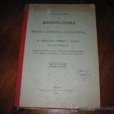 Libros antiguos: NOCIONES DE AGRICULTURA. Lote 14145312