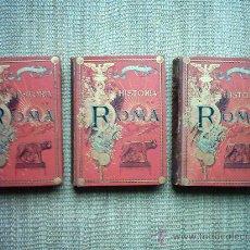 Libros antiguos: BERTOLINI.HISTORIA DE ROMA DESDE LOS ORÍGENES ITÁLICOS HASTA LA CAÍDA DEL IMPERIO DE OCCIDENTE. I890. Lote 27016158