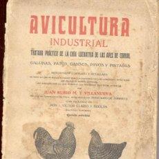 Libros antiguos - AVICULTURA INDUSTRIAL. CRIA LUCRATIVA DE LAS AVES DE CORRAL.GALLINAS PATOS GANSOS PAVOS PINTADAS1931 - 10706276
