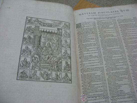 Libros antiguos: DECRETUM GRATIANI -LVGDVN AÑO 1584- FOLIO MAYOR PORTADA Y TEXTO A DOS TINTAS - Foto 7 - 27339413