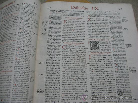 Libros antiguos: DECRETUM GRATIANI -LVGDVN AÑO 1584- FOLIO MAYOR PORTADA Y TEXTO A DOS TINTAS - Foto 10 - 27339413