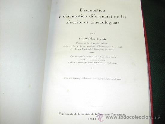 DIAGNOSTICO DIFERENCIAL DE LAS AFECCIONES GINECOLOGICAS WALTHER BENTHIN 1933. 423 PAGINAS CON (Libros Antiguos, Raros y Curiosos - Ciencias, Manuales y Oficios - Otros)