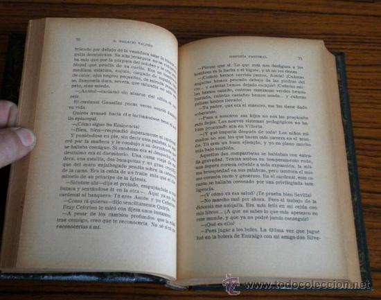 Libros antiguos: SINFONIA PASTORAL .. Novela de costumbres campesinas .. Por A. Palacios Valdés 1930 - Foto 3 - 19369923