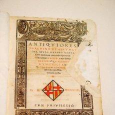 Libros antiguos: ANTIQUORES BARCHINONENSIUM LEGES - CODI DELS USATGES DE BARCELONA 1544. Lote 26646207