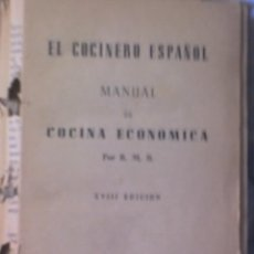 Libros antiguos: COCINA. VALENCIA LIBRO ANTIGUO RECETAS DE COCINA ECONOMICA .- POR :R.M.R.. Lote 10844102