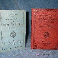 Libros antiguos: LIBROS ANTIGUOS MILITARES - CABALLERIA - AÑO 1902 - ILUSTRADOS.. Lote 27451226