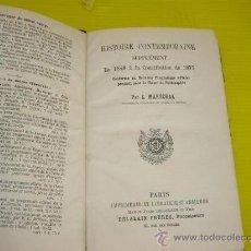 Libros antiguos: LIBRO AÑO 1848,PARIS HISTORIA CONTENPORANEA CONSTITUCION 1875 POR E.MARECHAL. Lote 10911113