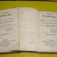 Libros antiguos: 2 TOMOS AÑO 1823,PARIS, QUENTIN DURWARD. Lote 10911162
