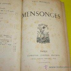 Libros antiguos: LIBRO AÑO 1887, PARIS PAUL BOURGET. Lote 10911201