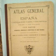 Libros antiguos: ATLAS GENERAL DE ESPAÑA Y PARTICULAR DE SUS CUARENTA Y NUEVE PROVINCIAS-1921. Lote 25883447