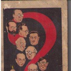 Libros antiguos: SECRETARIA DE DEFENSA DEL AHORRO. ED. MATEU 1931. (19X13) 30 PÁGINAS ILUSTRADAS CON CARICATURAS.. Lote 18583118
