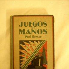 Libros antiguos: JUEGOS DE MANOS.-PRIMERA EDICION 1931. Lote 19082685