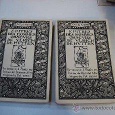Libros antiguos: SATÍRICA GRABADOS. EPITRES DES HOMMES OBSCURS 2 VOLS. Lote 25762790
