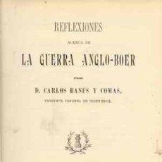 Libros antiguos: 1902 REFLEXIONES ACERCA DE LA GUERRA ANGLO-BOER. Lote 27344324