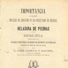 Libros antiguos: 1902 PRUEBAS DE HELADURA DE PIEDRAS. Lote 22437296