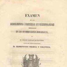 Libros antiguos: 1857 ORIENTACIONES DE LOS DIFERENTES SISTEMAS DE CIMENTACION EN CONSTRUCCIONES HIDRAULICAS. Lote 26657130