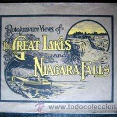 Libros antiguos: ROTOGRAVURE VIEWS OF THE GREAT LAKES AND NIAGARA FALLS, 1914. Lote 27372121