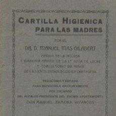 Libros antiguos: CARTILLA HIGIENICA PARA LAS MADRES A-FEM-159. Lote 14158417