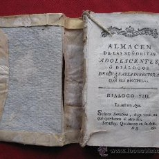 Libros antiguos: ALMACEN DE LAS SEÑORITAS ADOLESCENTES - TOMO II - ENCUADERNADO EN PIEL. Lote 11567468