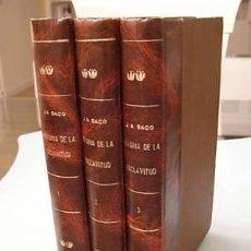 Libros antiguos: HISTORIA DE LA ESCLAVITUD DE CUBA JOSE ANTONIO SACO 1875 3 VOLS JUEGO COMPLETO LIBROS. Lote 16706744