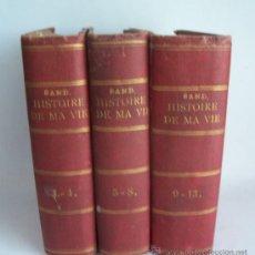 Libros antiguos: HISTORIE DE MA VIE - GEORGE SAND - AÑO 1855 - PARIS - 1ª EDICIÓN? - 13 T. EN 3 VOL. Lote 11636807