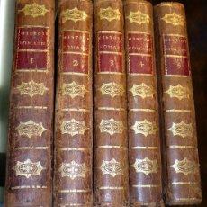 Libros antiguos: L'HISTORIE ROMAINE 5 TOMOS - M. L`ABBÉ TAILHIÉ LYON 1801 PLENA PIEL. Lote 26720910