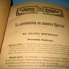 Libros antiguos: ANTIGUO Y PRECIOSO LIBRO DE COMUNICACIONES MILITARES - LA AEROESTACION EN NUESTRO EJERCITO, TELEGRAF. Lote 26529639