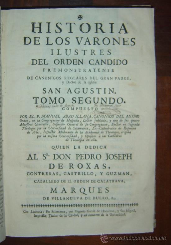 Libros antiguos: 1760 - GRAN HISTORIA DE LOS VARONES ILUSTRES DE ESPAÑA. SALAMANCA.PUEDE PAGARSE A PLAZOS - Foto 2 - 26988661