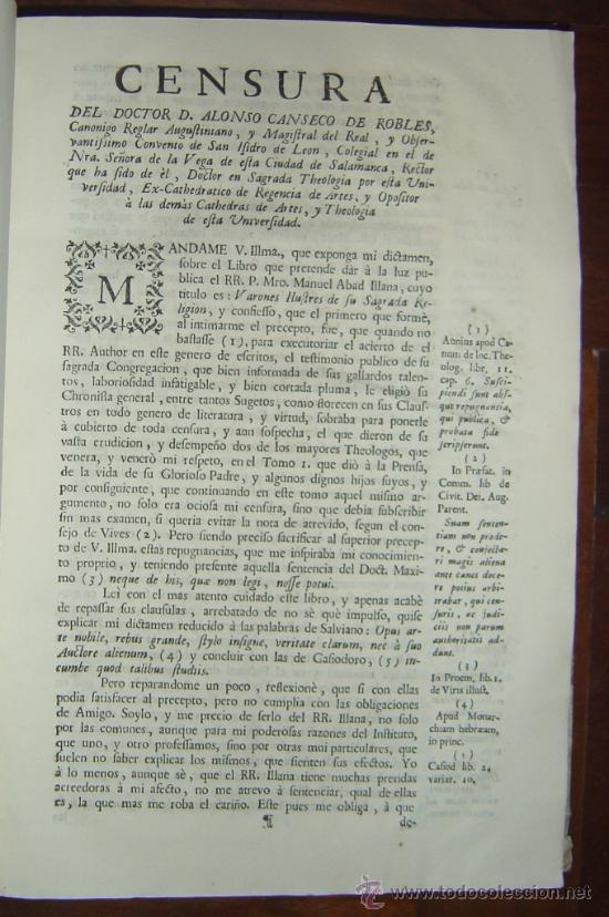Libros antiguos: 1760 - GRAN HISTORIA DE LOS VARONES ILUSTRES DE ESPAÑA. SALAMANCA.PUEDE PAGARSE A PLAZOS - Foto 9 - 26988661