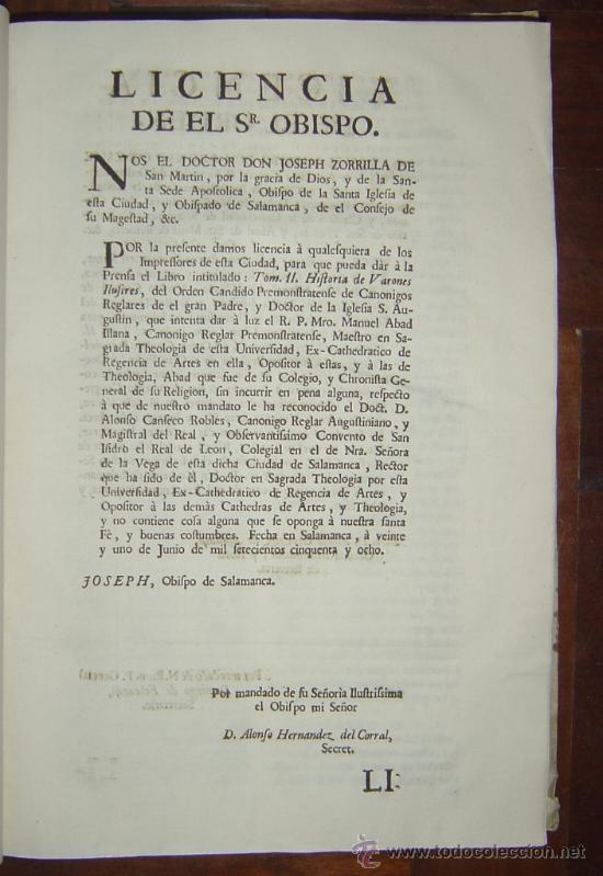 Libros antiguos: 1760 - GRAN HISTORIA DE LOS VARONES ILUSTRES DE ESPAÑA. SALAMANCA.PUEDE PAGARSE A PLAZOS - Foto 10 - 26988661