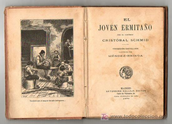 Libros antiguos: 1911 - EL JOVEN ERMITAÑO - CRISTOBAL SCHMID - GRABADOS - Foto 3 - 11723424