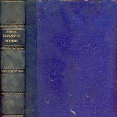 Libros antiguos: 1893 -- EXPLOSIFS DE SURETÉ: GRISOUTITE, WETTERDYNAMITES.... Lote 27287612