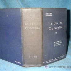 Libros antiguos: LA DIVINA COMEDIA - DANTE ALIGHIERI - AÑO 1900.. Lote 20702525