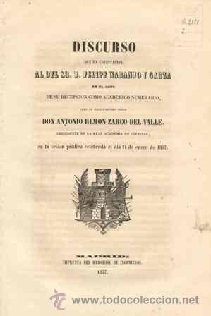 1857 DISCURSO DEL EXCMO. SR.PRESIDENTE DE LA ACADEMIA DE CIENCIAS (Libros Antiguos, Raros y Curiosos - Ciencias, Manuales y Oficios - Otros)