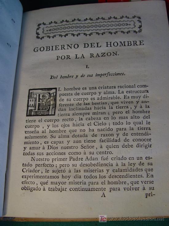 Libros antiguos: GOBIERNO DEL HOMBRE POR LA RAZON - PARTE I - LORENZO BORDELON - 1786 - VDA. DE IBARRA - MADRID - - Foto 3 - 176187763