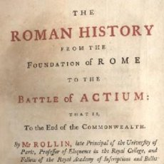 Libros antiguos: THE ROMAN HISTORY FROM THE FOUNDATION TO THE BATTLE OF ACTIUM VOL IX A-H-275. Lote 17490891