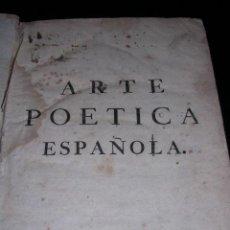 Libros antiguos: JUAN DIAZ RENGIFO NATURAL DE AVILA,ARTE POETICA ESPAÑOLA,BARCELONA 1759.. Lote 12139574
