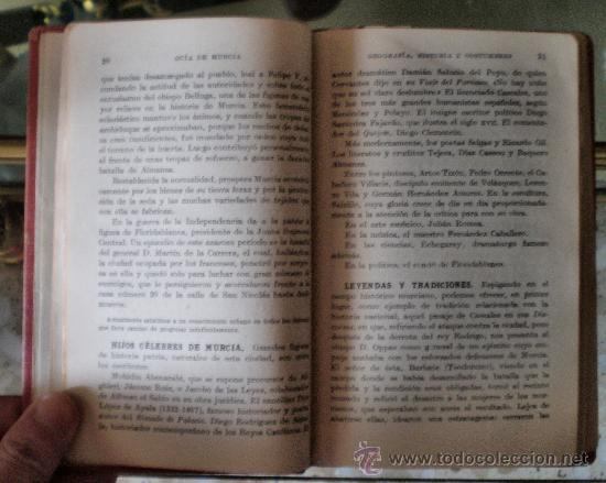 Libros antiguos: GUIAS ESPAÑA-MURCIA-ESPASA CALPE S.A. - Foto 3 - 16846021