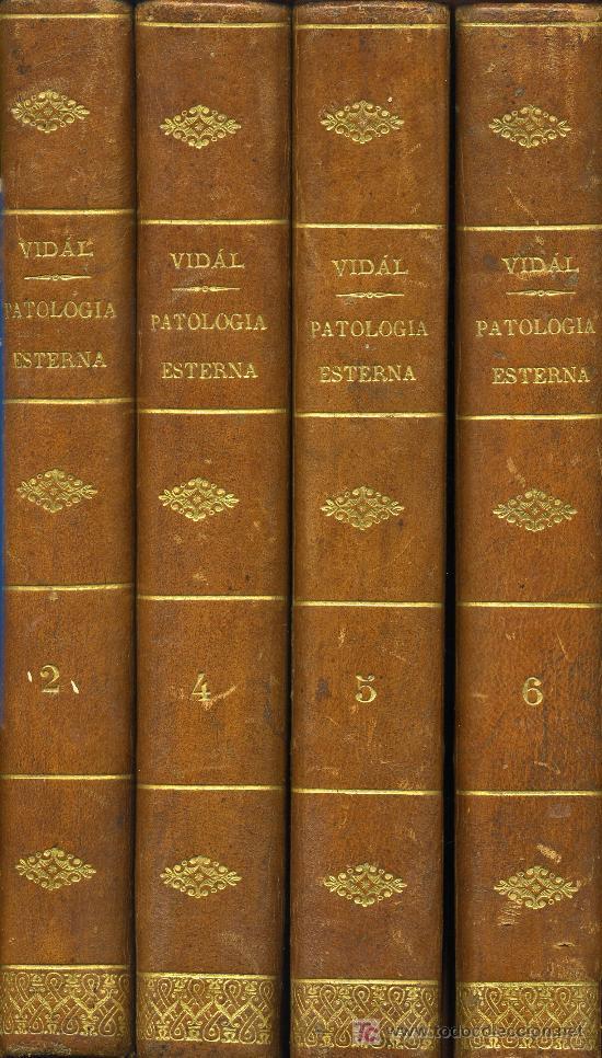 TRATADO DE PATOLOGÍA EXTERNA AÑO 1861 4 TOMOS (Libros Antiguos, Raros y Curiosos - Ciencias, Manuales y Oficios - Otros)