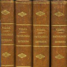 Libros antiguos: TRATADO DE PATOLOGÍA EXTERNA AÑO 1861 4 TOMOS. Lote 26764393