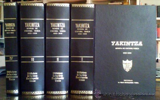 YAKINTZA.REVISTA DE CULTURA VASCA 1933-1936.4 TOMOS.TODO LO PUBLICADO.21 NUMEROS.OBRA COMPLETA (Libros Antiguos, Raros y Curiosos - Pensamiento - Otros)