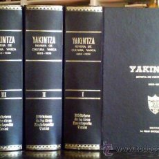 Libros antiguos: YAKINTZA.REVISTA DE CULTURA VASCA 1933-1936.4 TOMOS.TODO LO PUBLICADO.21 NUMEROS.OBRA COMPLETA. Lote 25172873
